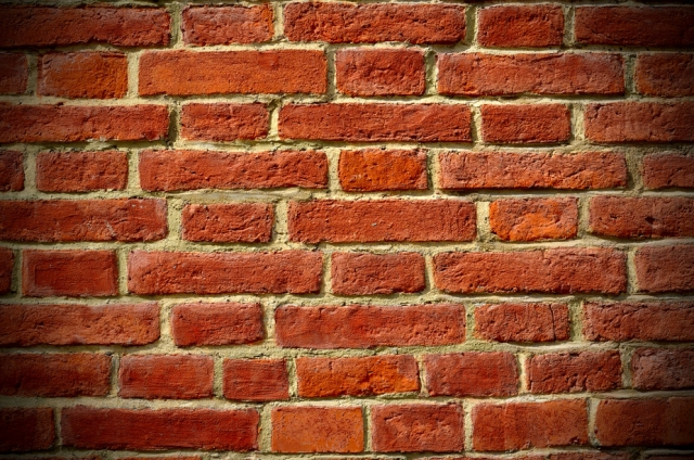 brick background, vignetting