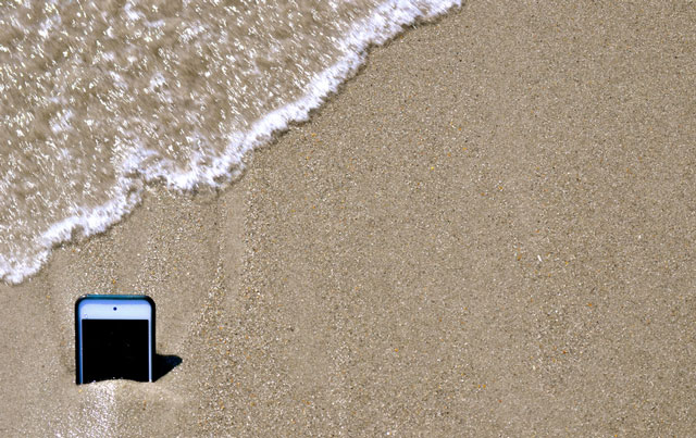 iPhone in the Sand