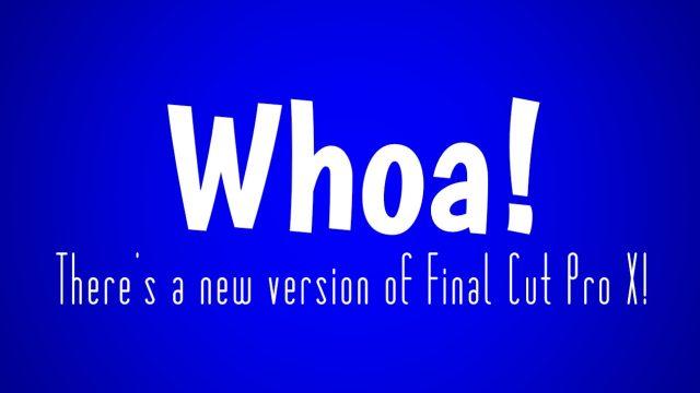New Final Cut Pro X version 10.3